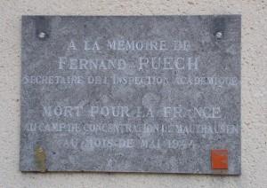 Plaque F. Puech