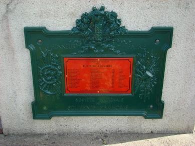 Plaque commémorative du Souvenir Français - Copie