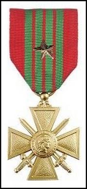 Croix de guerre 39-45 avec étoile Bronze