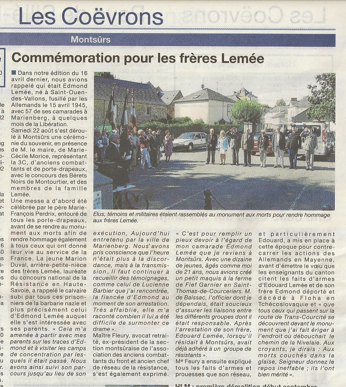 Courrier de la Mayenne 26.08.2015